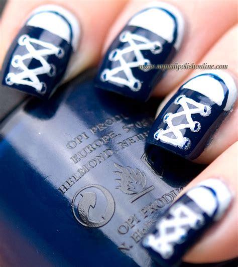 easy nail art converse nail art sunday converse my nail polish online