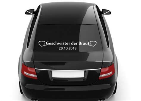 Auto Aufkleber Geschwister by Autoaufkleber Hochzeit Geschwister Der Braut Mit Datum