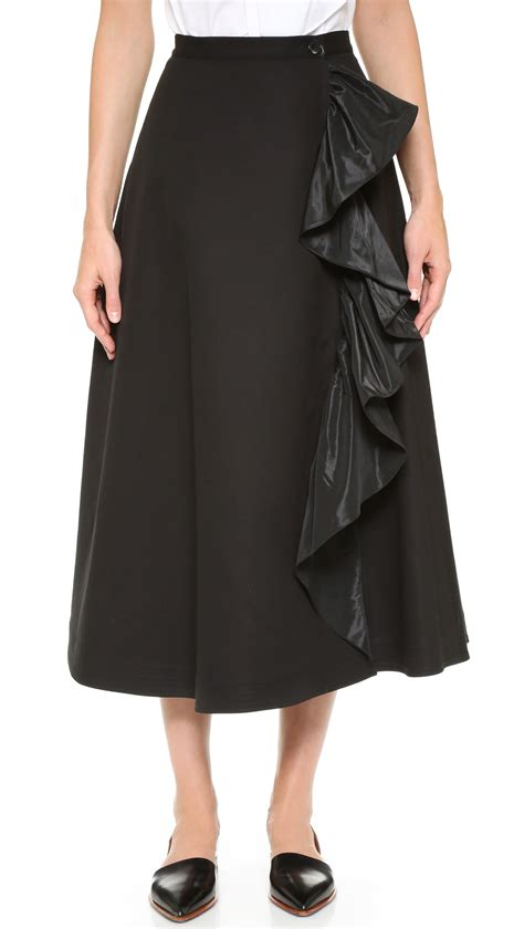 tome cotton a line skirt in black lyst