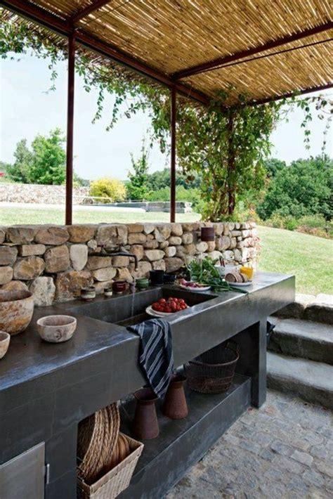Evier Exterieur Terrasse by 1001 Id 233 Es D Am 233 Nagement D Une Cuisine D 233 T 233 Ext 233 Rieure