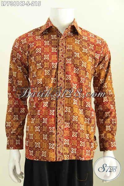 Batik Cap Pekalongan Pria Halus Lengan Panjang model kemeja batik pria lengan panjang 2017 baju batik klasik halus motif cap tulis til
