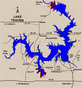 texoma map lake texoma launch points
