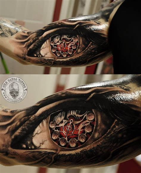 tattoo 3d flash http tattooideas247 com realistic eye clock tattoo