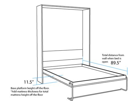 murphy bed dimensions vertical queen murphy bed open