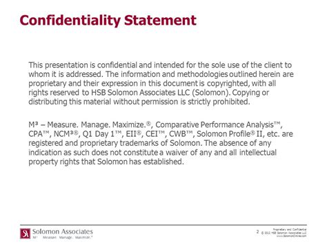 statement of confidentiality of report sle presented by tom svantesson senior ram consultant ppt
