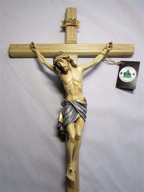 large wall cross crucifix beautifully painted