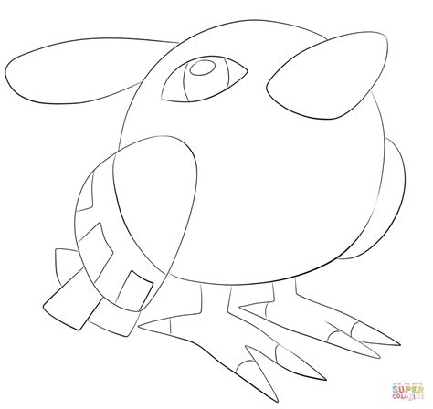 pokemon coloring pages natu natu coloring page free printable coloring pages
