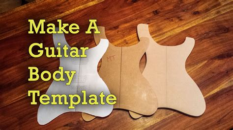 how to make guitar templates project electric guitar