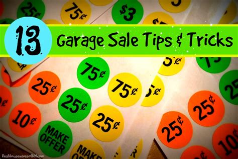 Garage Sale Tips And Tricks 13 useful tips tricks to a successful garage sale