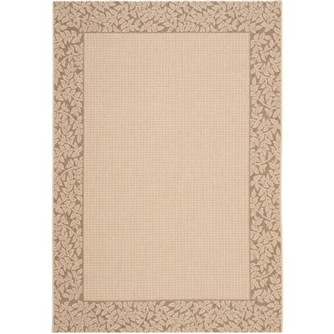 Safavieh Courtyard Natural Brown 5 Ft 3 In X 7 Ft 7 In Outdoor Rugs Home Depot