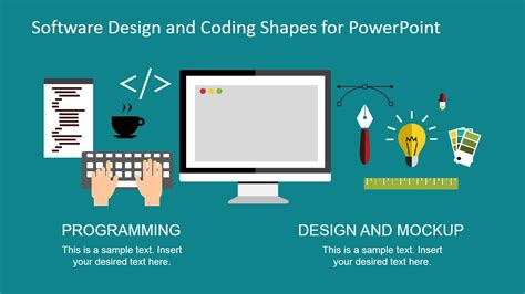 software design and coding shapes for powerpoint slidemodel