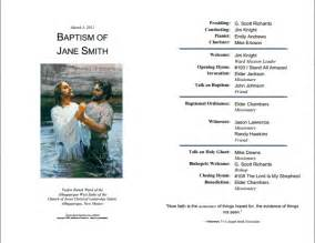 baptism program template the gallery for gt lds baptism program template word