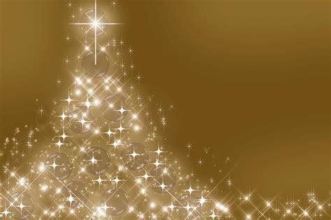 weihnachtsbaum gold kostenlose illustration hintergrund sterne weihnachten