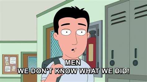 Family guy men we don t know what we did youtube