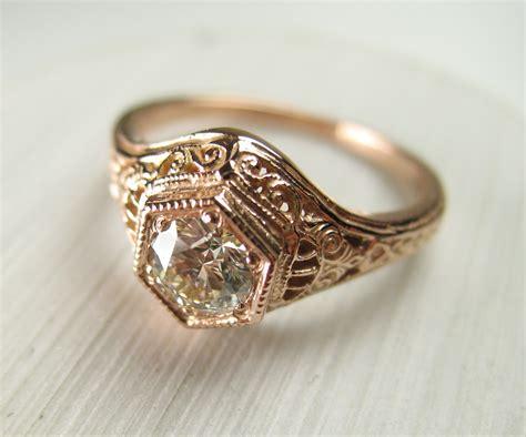 custom vintage rose gold diamond wedding ring spexton