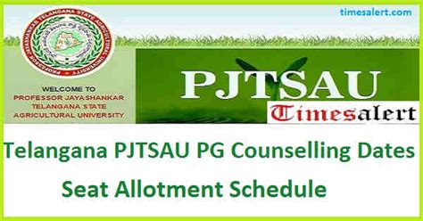 Mba Counselling 2016 Telangana by Telangana Pjtsau Pg Counselling Dates 2016 Rank Wise List