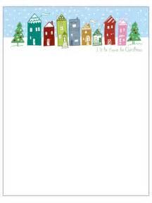 christmas letterhead templates brittney taylor