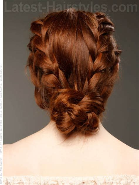 plait at back of hairstyle pigtail braids back images
