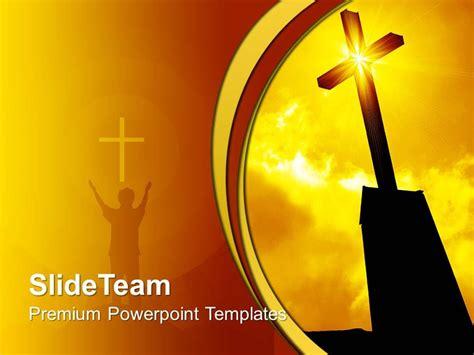 bible with christian cross ppt template bible with jesus christ bible powerpoint templates religious cross