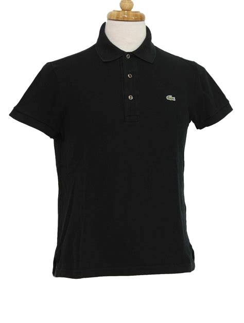Polo Shirt Polos Murah Pria Unisex Lacos vintage lacoste eighties shirt 80s lacoste unisex black