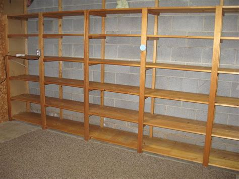 basement shelves solution