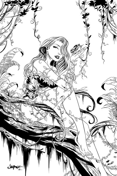poison ivy villain coloring pages coloring pages
