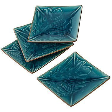 jcpenney tattoo cover up cindy crawford style eden canape plates set of 4