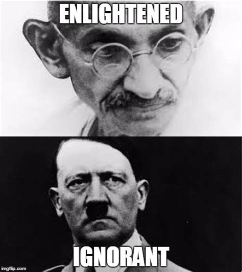 Gandhi Memes - good vs evil imgflip