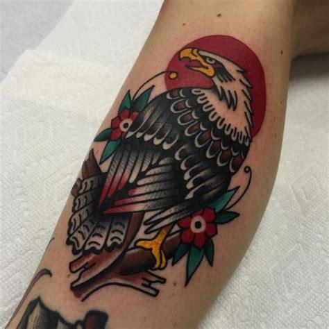 tattoo eagle old arm old school eagle tattoo by kings avenue tattoo