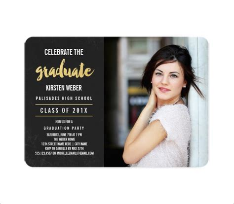 free graduation announcement photo card templates graduation card templates 10 free printable word pdf
