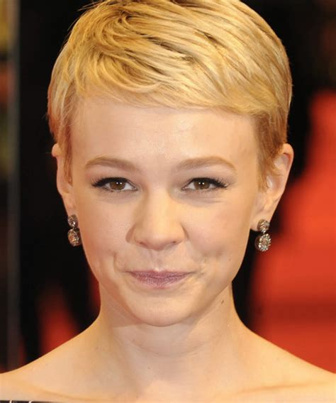 formal comb back pixie cut carey mulligan hairstyle hairstyles carey mulligan short straight formal hairstyle
