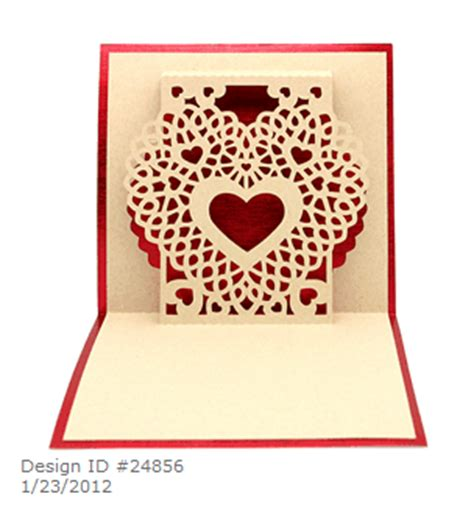 Anniversary Pop Up Card Template by Capadia Designs Personalized Pop Up Anniversary Card