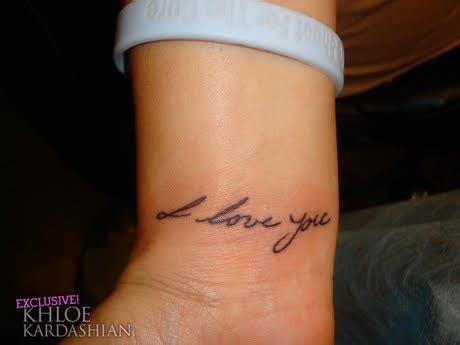 khloe kardashian tattoo on wrist womens arts