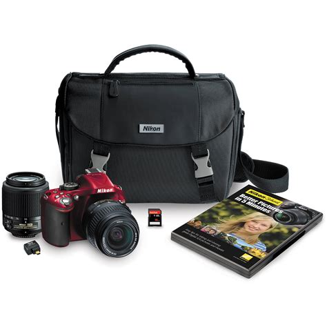 nikon d5200 slr nikon d5200 digital slr kit with 18 55mm and 13468 b h
