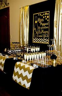 gold and black party champagne bridal shower lillian hope designs