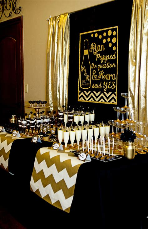 gold event themes black and gold bridal shower lillian hope designs