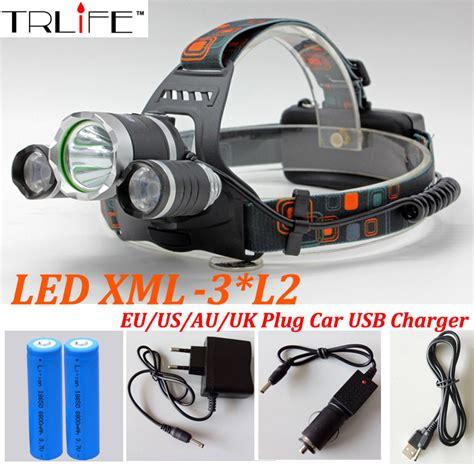 High Power Headl Led Cree headlight 12000 lumens 3x cree xm l2 led high power light headl l 2 18650 battery