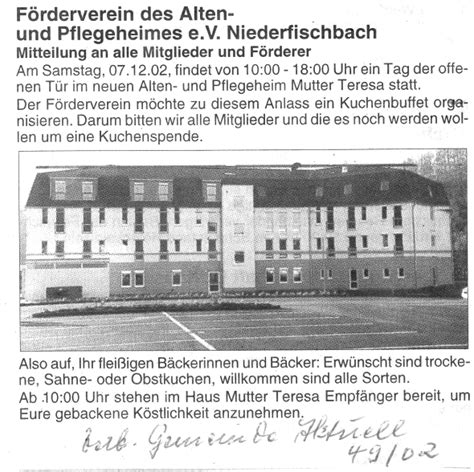 haus mutter teresa homepage des f 246 rdervereins haus mutter teresa niederfischbach