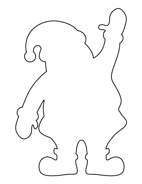 santa claus pattern use the printable outline for crafts