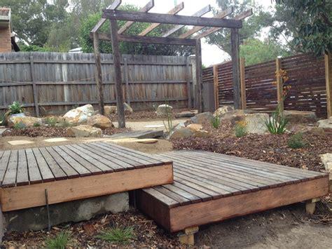 Landscape Timber Design Plans Decking Shrubs And Brisbane On