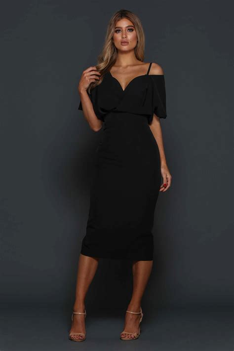 Dress Sabrina Cleo Black midi zeitoine cleo cocktail dress in black best uk prices on dresses