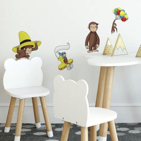curious george wall stickers curious george wall decals roommates