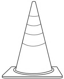 cone coloring page coloring pages of safety cones coloring pages