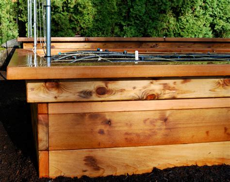 Raised Bed Frames Raised Bed Frame With Seats Plan