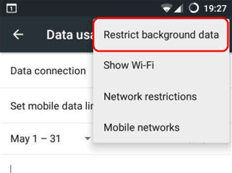 turn background data android enable or disable background data