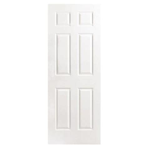 masonite 30 in x 80 in textured 6 panel hollow primed composite interior door slab 16474