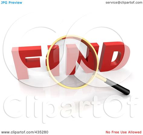 clipart search royalty free rf clipart illustration of a 3d magnifying