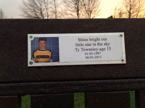 outdoor memorial plaques for benches personalised photo memorial bench plaque by keepstakes