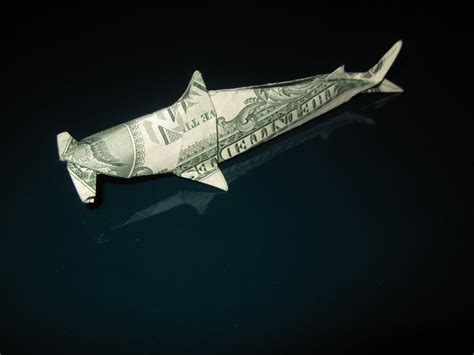 Dollar Origami Shark - dollar origami won park shark fin clinic