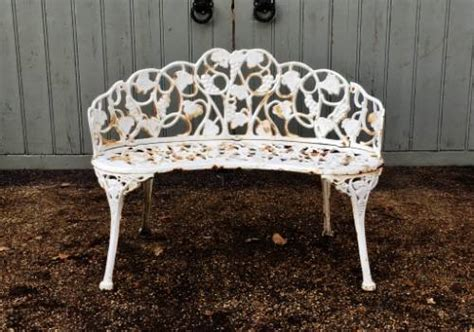 small iron bench small iron bench in from the vintage garden company